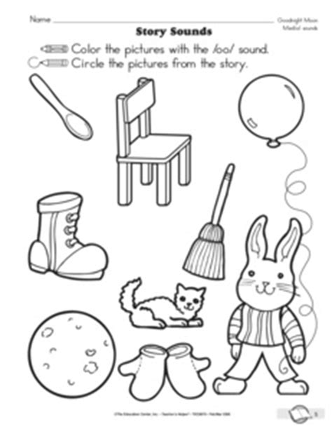 Goodnight Moon Worksheet by Goodnight Moon Worksheet The Best And Most Comprehensive