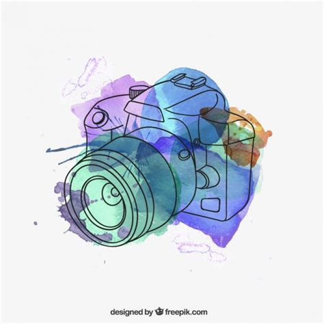 transformar imagenes a jpg gratis watercolor camera vector free download