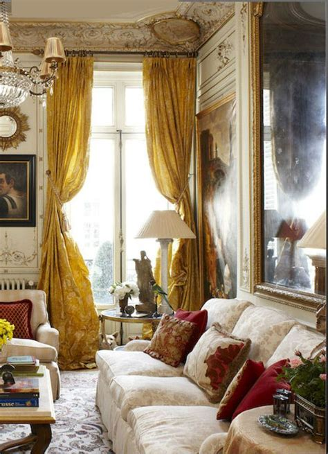 Lodge Style Curtains Paris Pied 224 Terre Corrigan Interiors Paris Apartment