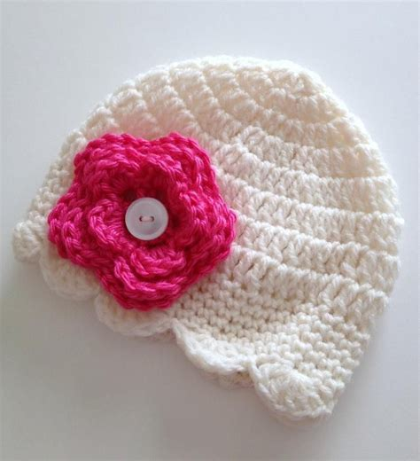 free crochet pattern newborn flower hat baby girl crochet hats with flowers free patterns