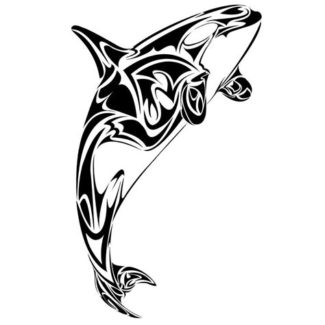 tribal whale tattoo white belly killer whale design tatts