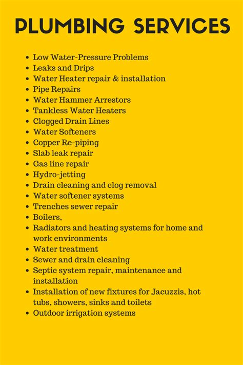 Types Of Plumbing Services by Hiring A Plumber Or Handyman