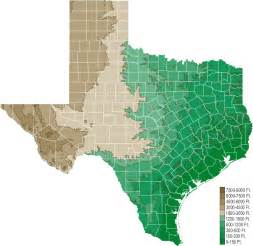 Elevation Tx Elevation Map Map Map Of