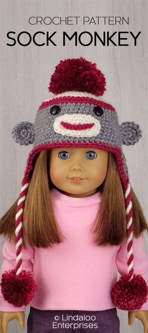 clothes pattern for sock monkey 11732 best 18 inch doll clothes and patterns images on