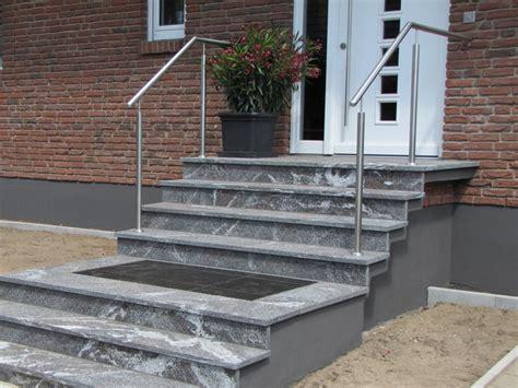 edelstahl aussentreppe mit podest ln21 hitoiro - Treppengeländer Aussentreppe