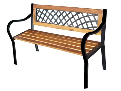 wood and metal benches for garden 3 seater metal wooden garden outdoor lattice back park