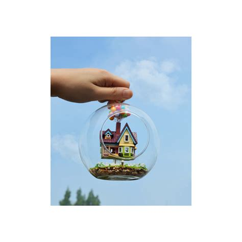 film up gifts novelty diy house glass ball flying cabin toy pixar film