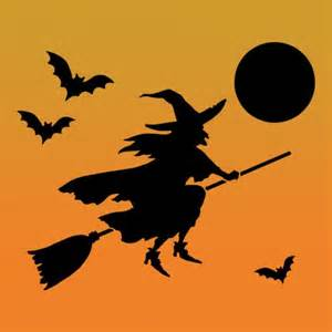 Christmas Tree Wall Mural flying witch halloween stencil craft stencils for diy