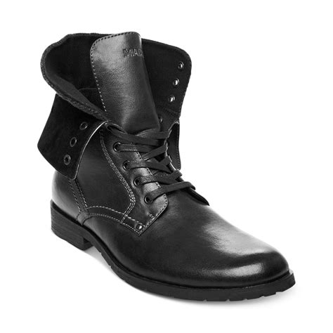 mens steve madden boots steve madden madden shoes kegger boots in black for lyst