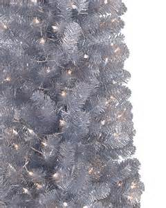 shimmering silver artificial pencil christmas tree treetopia