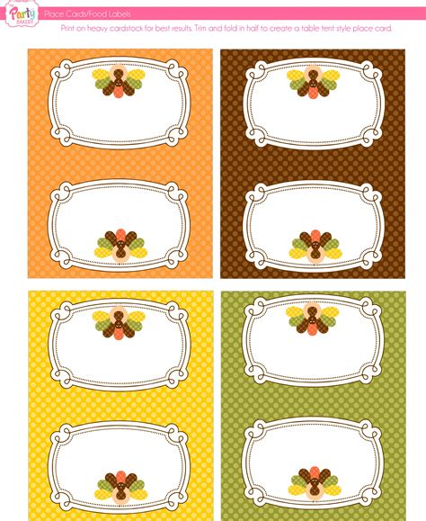free thanksgiving name card templates 6 best images of thanksgiving printable name tags free