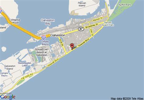 map of galveston island texas galveston island map