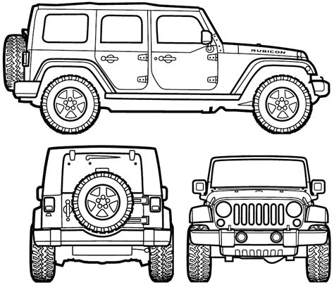 jeep drawing car blueprints jeep wrangler unlimited blueprints