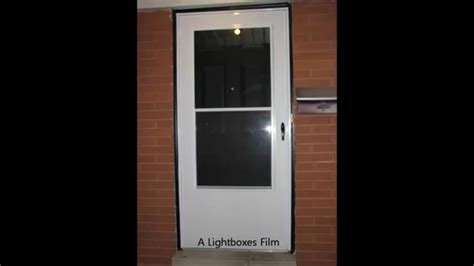 Screen Door Installation by How To Install A Screen Door Time Lapse