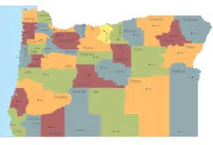 map of oregon state map of usa