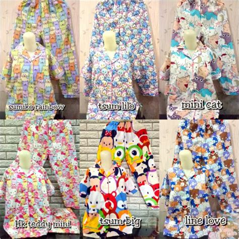 Baju Tidur Panda Rainbow piyama dewasa cp katun jepang premium cp fit to xl