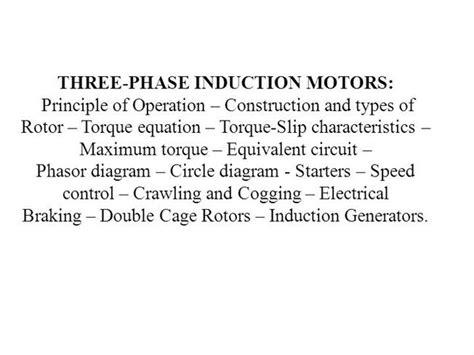 three modes of operation of induction motor three phase induction motors authorstream