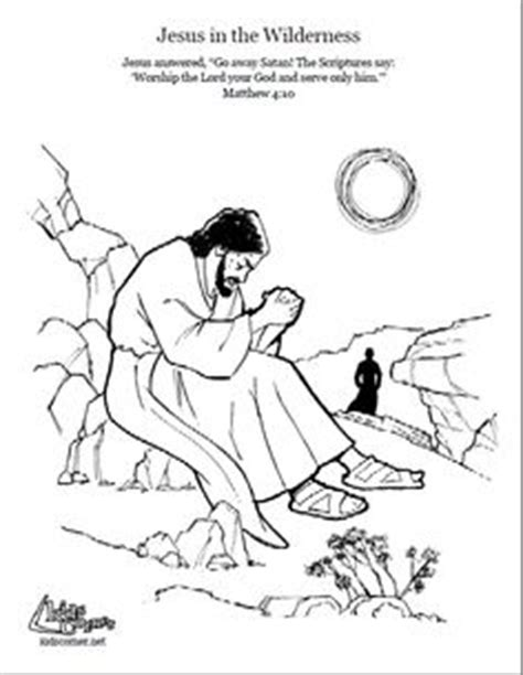 coloring page jesus in the wilderness 1000 images about sunday school kids activities on