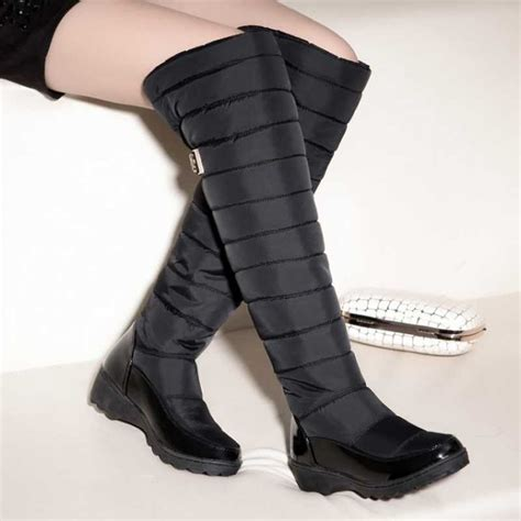 s knee high winter boots rubber sole
