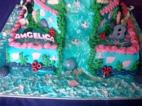 como decorar un pastel de la sirenita ariel pastel de la sirenita youtube