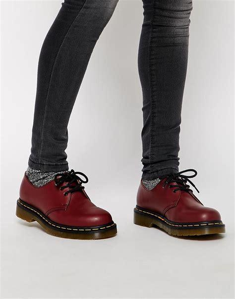 Dr Martens 1461 dr martens dr martens 1461 cherry 3 eye flat shoes
