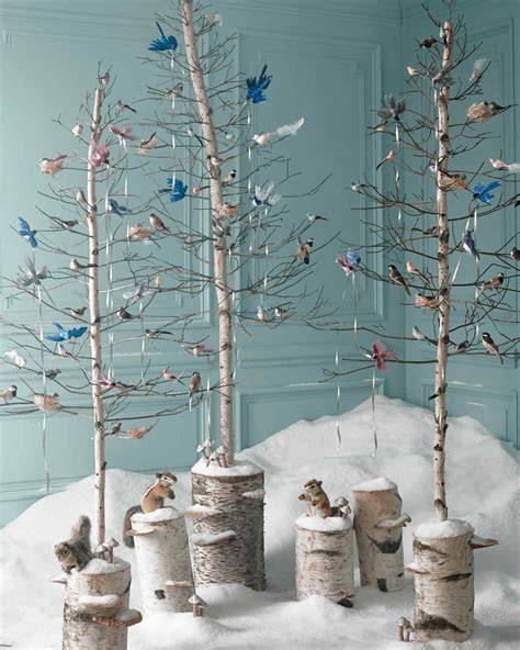 using a birch branch tree for a christmas tree enchanted forest tree ideas by quot martha stewart living quot editors martha stewart
