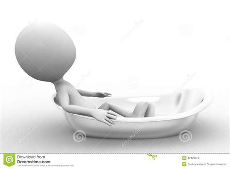 man in bathtub 3d man in bath tub stock illustration image 42420874