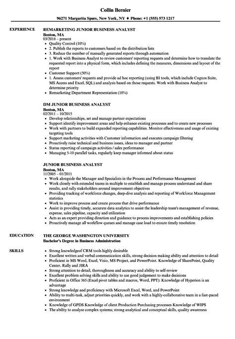 Sample Cv For Junior Business Analyst - Entry Level