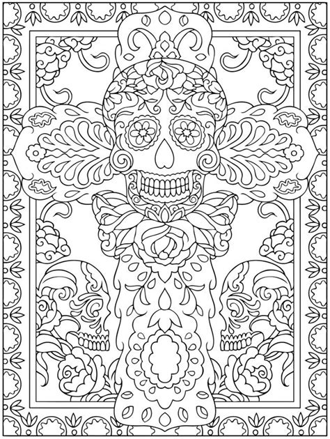 coloring pages for dia de los muertos 591 best skull coloring dia de los muertos images on