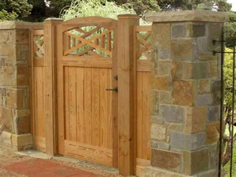 fences and gates design brick and wood fences wooden fence gate designs building