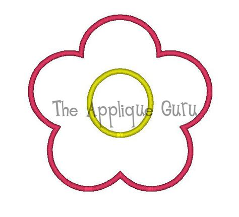flower applique simple flower applique machine embroidery design