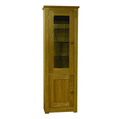 Single Bookcase Flagship Oak Single Glass Door Bookcase Modern Home