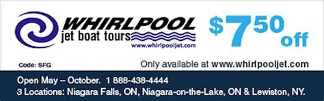 niagara falls boat tour canada coupon whirlpool jet boat tours coupon 7 50 off