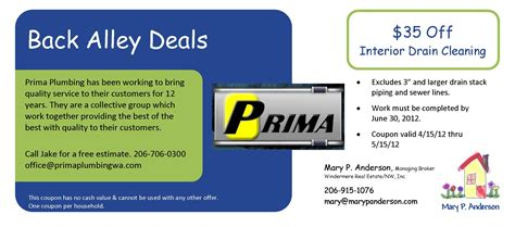 Prima Plumbing Seattle by P 35 Interior Drain Cleaning