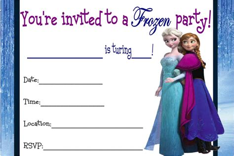 printable frozen birthday party invitations free printable disney frozen invitations free printable
