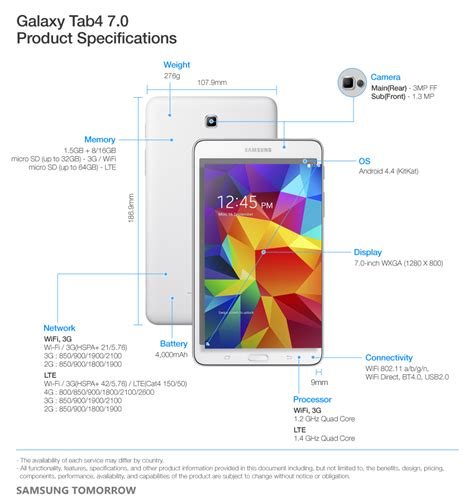 Tab 4 Samsung 7 Inch Second samsung unveils new galaxy tab4 series samsung global newsroom