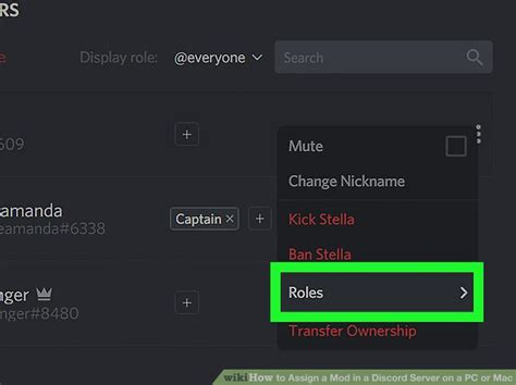 discord how to add roles how to assign a mod in a discord server on a pc or mac