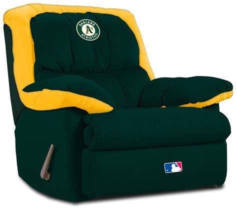 sports recliner oakland athletics recliner athletics leather recliner