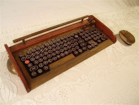 A Vintage Keyboard by Antique Looking Computer Keyboard Mouse With