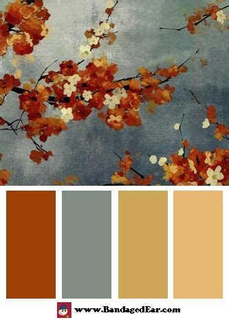 orange blossoms ii by asia color palette house ideas or dreams grey