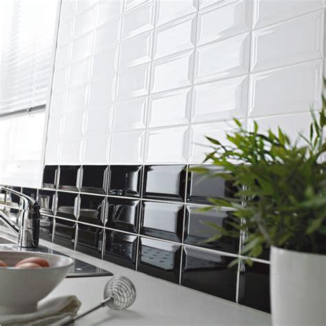 faience cuisine noir et blanc