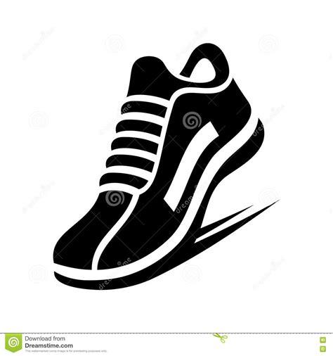 running shoe clip running shoe icon vector stock vector illustration of