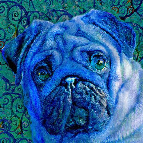 blue pugs blue pug digital by schnetlage