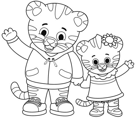 coloring page daniel tiger free coloring pages daniel tiger murderthestout tiger