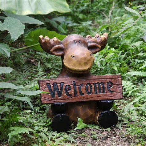 moose lawn ornament mainstays 12 75 quot welcome moose lawn ornament walmart ca