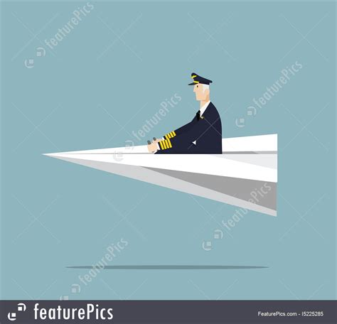 Arming Airline Pilots Essay by Airline Pilot Driving Paper Airplane Stock Illustration I5225285 At Featurepics