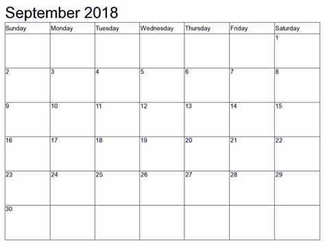 september 2018 calendar cute calendar pinterest october