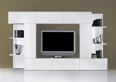 meuble tv de style contemporain laqu 233 blanc magasin de