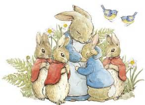 Beatrix Potter Wall Mural peter rabbit family hug wall decal removable