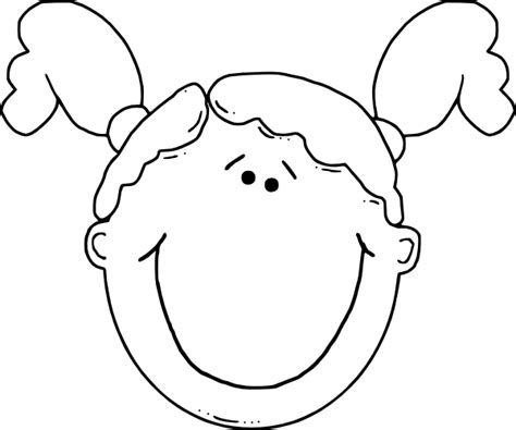 girl face outline clip art girl face clip art at clker com vector clip art online
